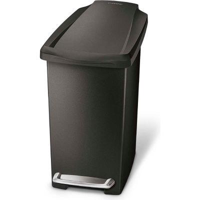 simplehuman® Slim Plastic Step Can - 2-3/5 Gallon Black