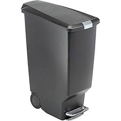 simplehuman® Slim Plastic Step Can - 10-1/2 Gallon Black