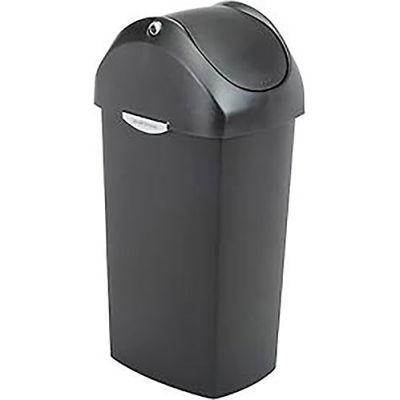 simplehuman® Plastic Swing Lid Can - 16 Gallon Black