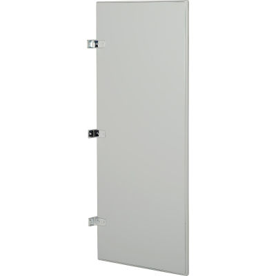 """Steel Urinal Screen with Wall Mounting Brackets - 18""""W (Gray)"""