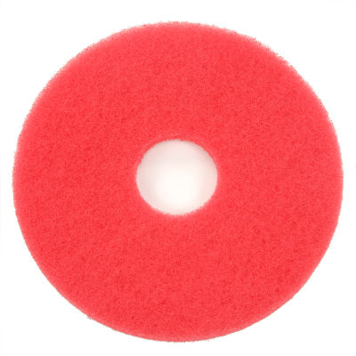 """Global Industrial™ 13"""" Red Buffing Pad - 5 Per Case"""