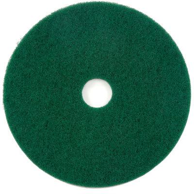 "Global Industrial™ 17"" Scrubbing Pad, Green, 5 Per Case"