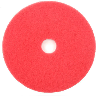 """Global Industrial™ 20"""" Buffing Pad, Red, 5 Per Case"""