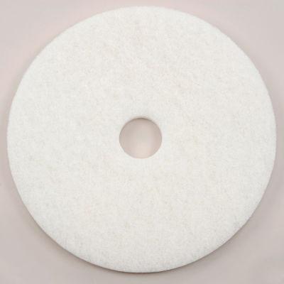 "Global Industrial™ 20"" White Polishing Pad - 5 Per Case"