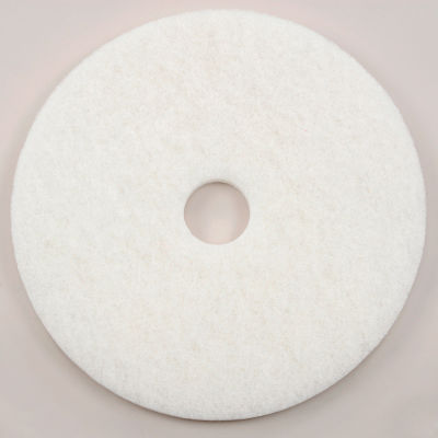 "Global Industrial™ 17"" Polishing Pad, White, 5 Per Case"