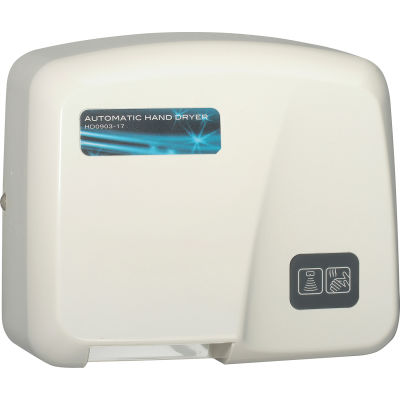 Palmer Fixture Automatic Hands Free Hand Dryer, White, 120V