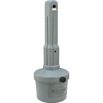 Global Industrial™ Gray Outdoor Ashtray - 1-1/2 Gallon
