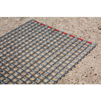 """Durable Corporation Steel Mat 3/8"""" Thick 3' x 4' Gray"""