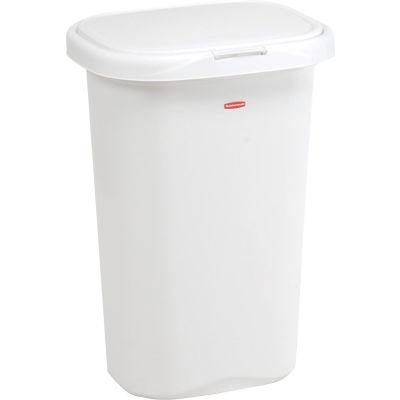 Rubbermaid® Liner Lock™ Spring Top™ Wastebasket 5l58 52 Qt, White