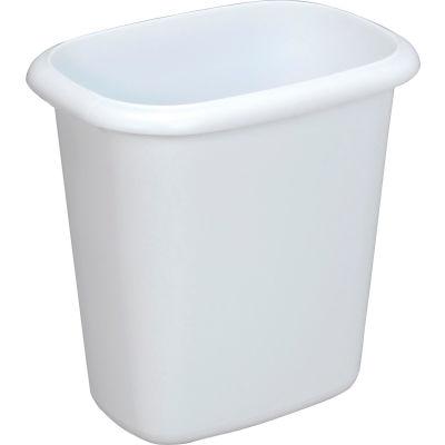 Rubbermaid® Vanity Wastebasket 2953 6 Quart, White