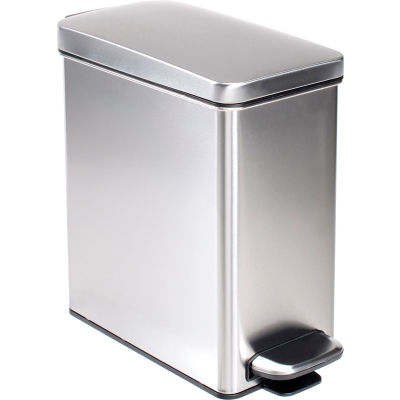 simplehuman® Brushed Stainless Steel Profile Step Can, 2-3/5 Gallon