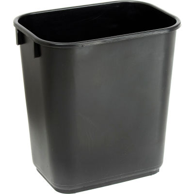 Global Industrial™ 13-5/8 Qt. Plastic Wastebasket - Black