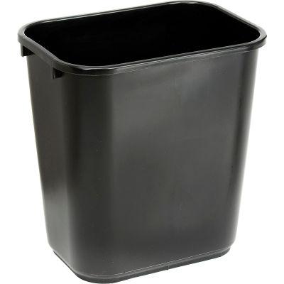 Global Industrial™ 28-1/8 Qt. Plastic Wastebasket - Black