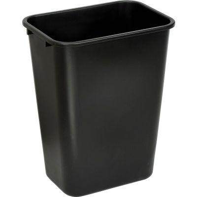 Global Industrial™ 41-1/4 Qt. Plastic Wastebasket - Black