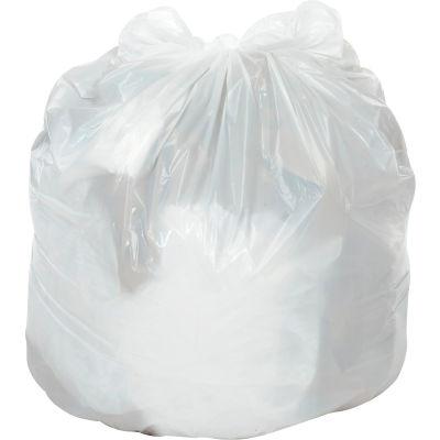 Global Industrial™ Medium Duty White Trash Bags - 20 to 30 Gal, 0.7 Mil, 200 Bags/Case