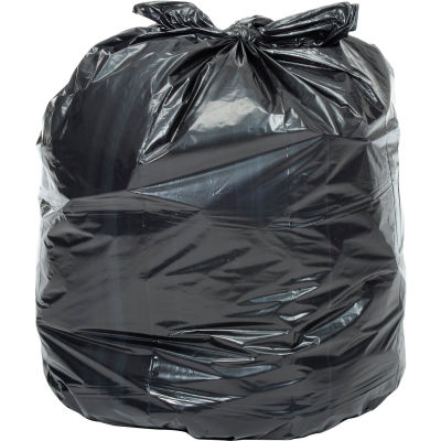 Global Industrial™ Light Duty Black Trash Bags - 12 to 16 Gal, 0.23 Mil, 1000 Bags/Case