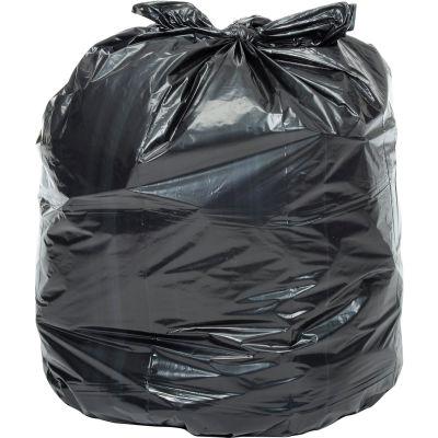 Global Industrial™ Heavy Duty Black Trash Bags - 45-55 Gal, 1.5 Mil, 100 Bags/Case