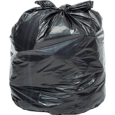 Global Industrial™ Extra Heavy Duty Black Trash Bags - 40 to 45 Gal, 1.4 Mil, 100 Bags/Case