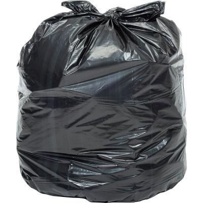Global Industrial™ Heavy Duty Black Trash Bags - 55 to 60 Gal, 1.0 Mil, 100 Bags/Case