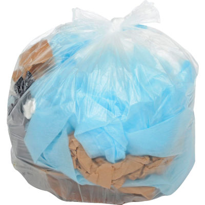 Global Industrial™ Light Duty Natural Trash Bags - 12 to 16 Gal, 0.21 Mil,1000 Bags/Case