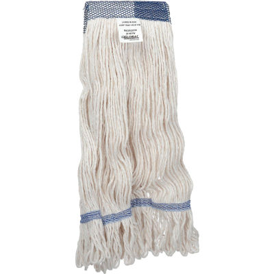 Global Industrial™ Large Blend Looped Mop Head, Wide Band