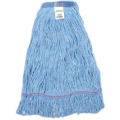 Global Industrial™ Medium Blue Looped Mop Head, Narrow Band