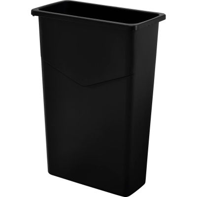Global Industrial™ Slim Trash Container, Black, 23 Gallon
