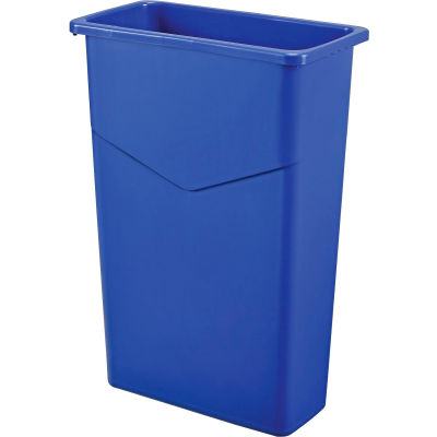 Global Industrial™ Slim Trash Container, 23 Gallon, Blue