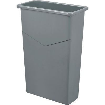 Global Industrial™ Slim Trash Container, Gray, 23 Gallon