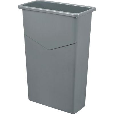 Global Industrial™ Slim Trash Can, Gray, 23 Gallon