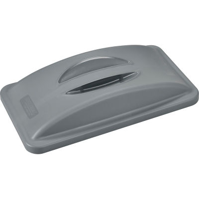 Global Industrial™ Solid Recycling Lid With Handle, Gray