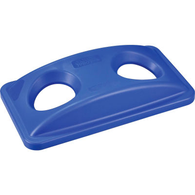 Global Industrial™ Bottles & Cans Recycling Lid, Blue