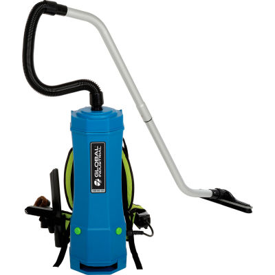 Global Industrial™ HEPA Backpack Vacuum W/8-Piece Tool Kit, 2-1/2 Gallon Cap.