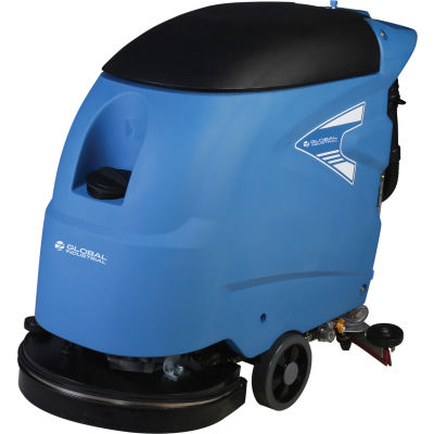 """Global Industrial™ Electric Walk-Behind Auto Floor Scrubber, 20"""" Cleaning Path"""