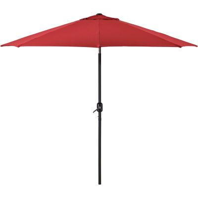 Global Industrial™ Outdoor Umbrella -Tilt Mechanism - Olefin - 8-1/2', Red