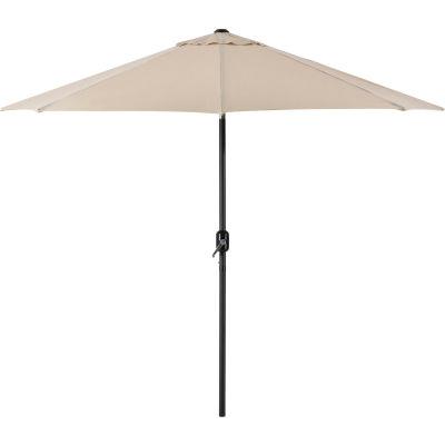 Global Industrial™ Outdoor Umbrella -Tilt Mechanism - Olefin - 8-1/2', Tan