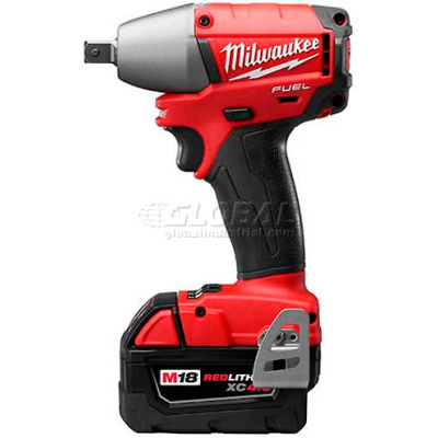 "Milwaukee 2755B-22 M18 FUEL 18-Volt Li-Ion Brushless 1/2"" Compact Impact Wrench Friction Ring Kit"