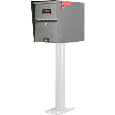 Jayco Standard Aluminum Letter Locker Mailbox Gray