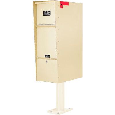 Jayco Supreme Aluminum Letter Locker Mailbox Tan