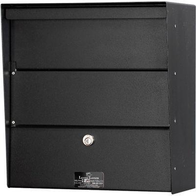 Jayco Wall Mount Horizontal Letter Locker Mailbox Black