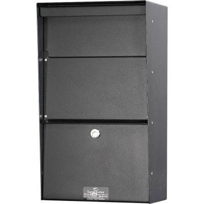 Jayco Wall Mount Vertical Aluminum Letter Locker Mailbox Black
