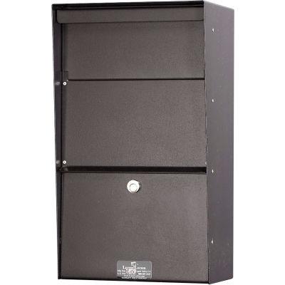 Jayco Wall Mount Vertical Aluminum Letter Locker Mailbox Bronze