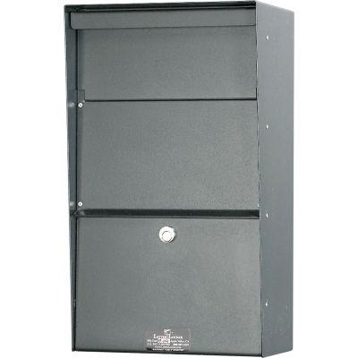 Jayco Wall Mount Vertical Aluminum Letter Locker Mailbox Gray