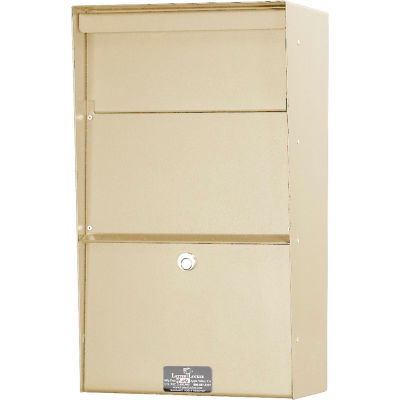 Jayco Wall Mount Vertical Aluminum Letter Locker Mailbox Tan