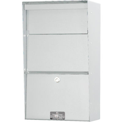 Jayco Wall Mount Vertical Aluminum Letter Locker Mailbox White