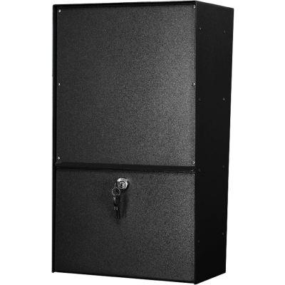 Jayco Wall Mount Vertical Rear Access Aluminum Letter Locker Mailbox Black