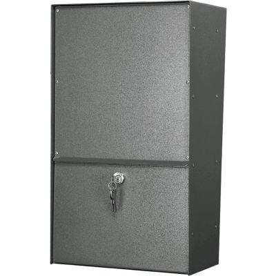 Jayco Wall Mount Vertical Rear Access Letter Locker Mailbox Gray