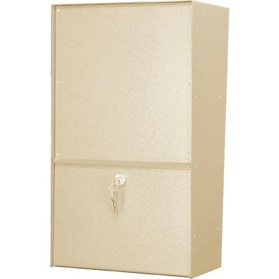 Jayco Wall Mount Vertical Rear Access Letter Locker Mailbox Tan