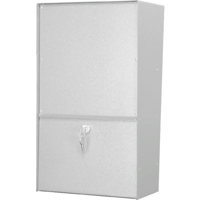 Jayco Wall Mount Vertical Rear Access Letter Locker Mailbox White