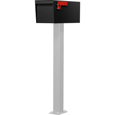 Jayco Residential Non-Locking Front and Rear Access Letter Locker Mailbox Black